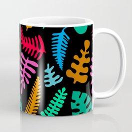 Mod Minimalist Leaves in Black + Tropical Multi Coffee Mug