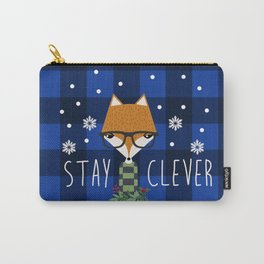 Stay Clever Winter Fox Carry-All Pouch