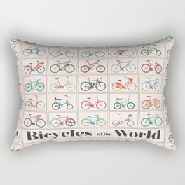 Bicycles of the World Rectangular Pillow