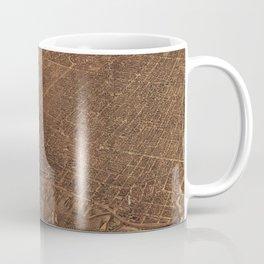 Vintage Pictorial Map of Toronto Canada (1876) Coffee Mug