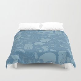 Russian Woodland Animal Print Duvet Cover