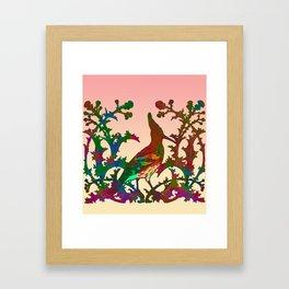 Color hoopoe Framed Art Print
