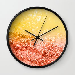 Tropical Summer Lady Glitter #2 #shiny #decor #art #society6 Wall Clock