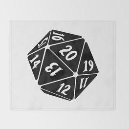 20 Sided Spindown die Throw Blanket
