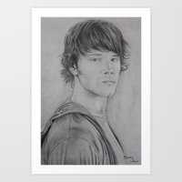 sam winchester Art Prints featuring Sam Winchester by Brooke Shane