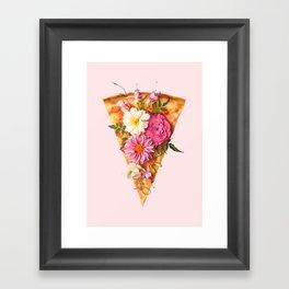 FLORAL PIZZA Framed Art Print