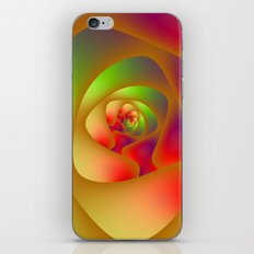 Green and Red Spiral Labyrinth iPhone & iPod Skin
