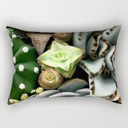 Wild and Wooly Succulent Garden Rectangular Pillow