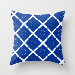 Mix of flag: UE and scotland Throw Pillow