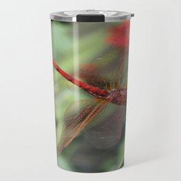 Red Skimmer or Firecracker Dragonfly Travel Mug