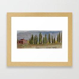 Tuscany Stone House Watercolor Framed Art Print