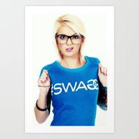 swag Art Prints featuring Swag by Taylor Brynne-Model
