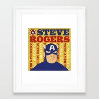 steve rogers Framed Art Prints featuring Steve Rogers/Captain America by Joseph Rey Velasquez