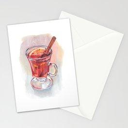 Glühwein glass Stationery Cards