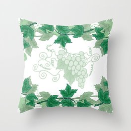 Abstract frame from grapevines Throw Pillow