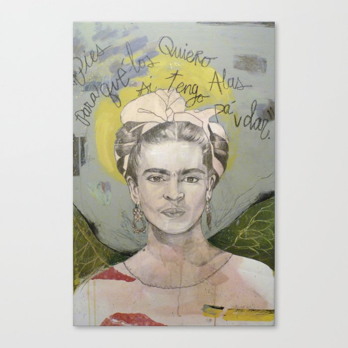 """Frida """"Pies, para que los quiero?"""" Canvas Print"""