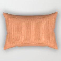Peach Waves Rectangular Pillow
