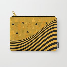 Yellow , black , striped Carry-All Pouch