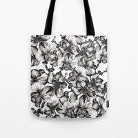 orchid Tote Bags featuring orchid by GYYO
