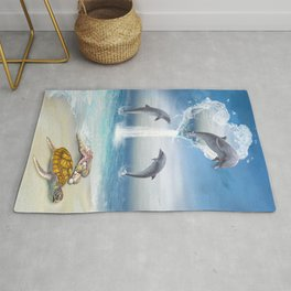 The Heart Of The Dolphins Rug