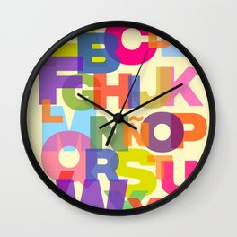 Colorful Abecedary Wall Clock