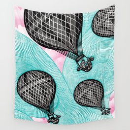 Balloonists Wall Tapestry