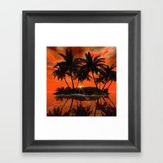 Wonderful red sunset Framed Art Print