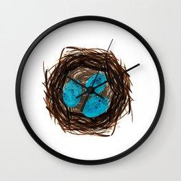 Nested Eggs Wall Clock