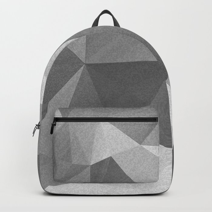 Grey polygonal geometric pattern . Backpack