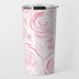 Watercolor pink roses pattern Travel Mug