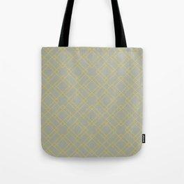 Simply Mod Diamond Mod Yellow on Retro Gray Tote Bag