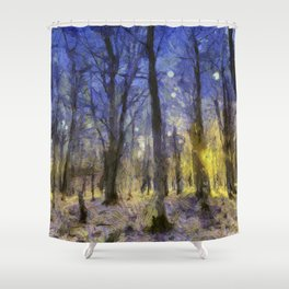 The Forest Van Gogh Shower Curtain