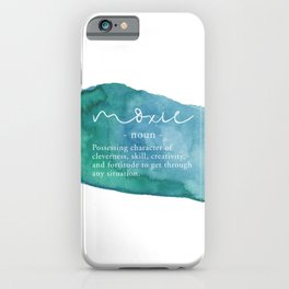 Moxie Definition - Blue Watercolor iPhone Case