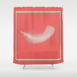 Coral Feather  Shower Curtain