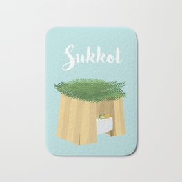 Warm Sukkot Booth of Togetherness and love Bath Mat