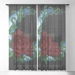 Crescent Roses Sheer Curtain