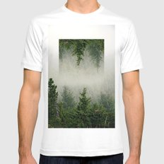Forest MEDIUM Mens Fitted Tee White