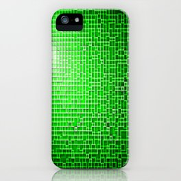 Green Pixels iPhone Case