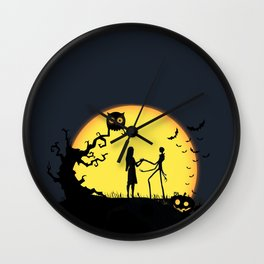 Jack and Sally-Nightmare Wall Clock