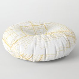 PHOENIX ARIZONA CITY STREET MAP ART Floor Pillow