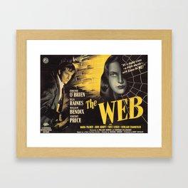 The Web, vintage horror movie poster Framed Art Print