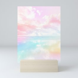 Watercolour reflections Mini Art Print