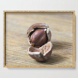 cracked nut hazelnut Serving Tray