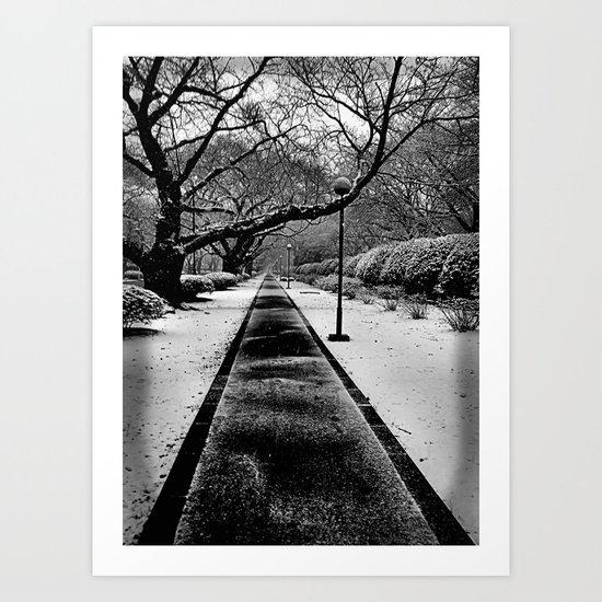 Snowblind (Colorless Section) Art Print