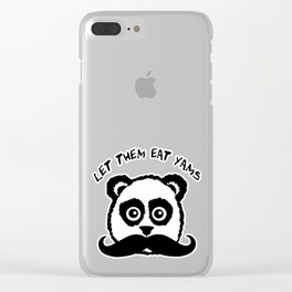 Funny Mustache Panda Let Them Eat Yams Clear iPhone Case