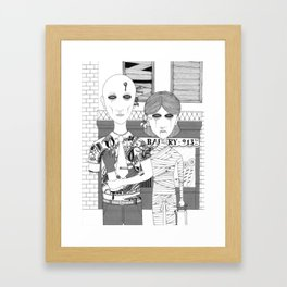 Dead People Framed Art Print