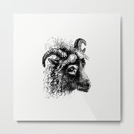 Goat from Aileen Aroon a Memoir of a dog With Other Tales of Faithful Friends and Favourites Sketche Metal Print