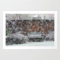 snowing Art Print