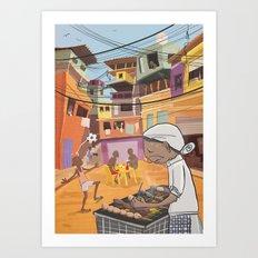 Favela in Rio Art Print