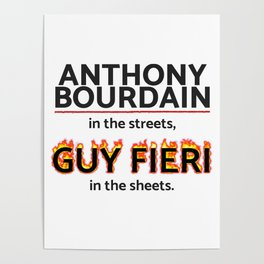 Bourdain in the Streets, Fieri in the Sheets Poster
